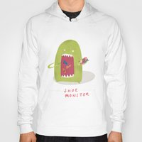 shoe Hoodies featuring Shoe Monster by Firecatcher
