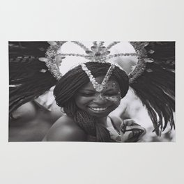 black white photo Rug