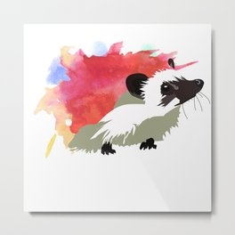 Watercolour Hedgehog Metal Print