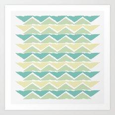 ocean triangles Art Print