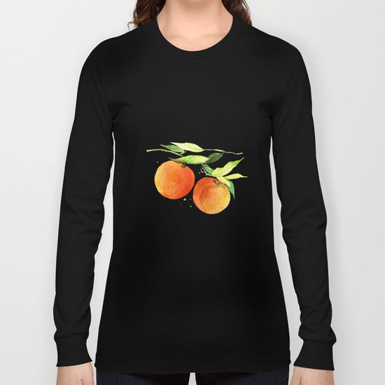 Watercolor oranges Long Sleeve T-shirt