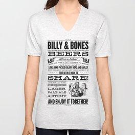 Billy & Bones Hand Crafted Beer Unisex V-Neck