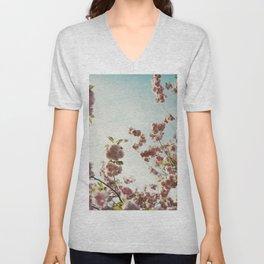 Blossoms agains blue sky Unisex V-Neck