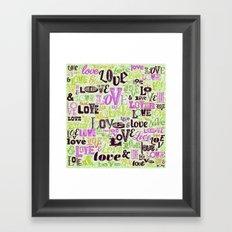 Vintage Love Words Framed Art Print