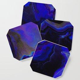 Dark Purple Blue Galaxy - Midnight Shades Coaster