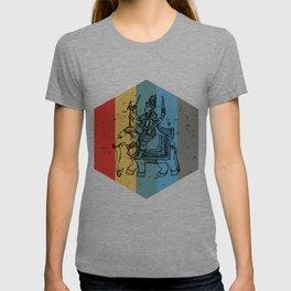 Lord Ganesh Retro Hexagon Art T-shirt