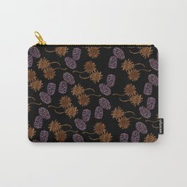 Sweetgums and Blackberries Paisley Botanical Print Carry-All Pouch
