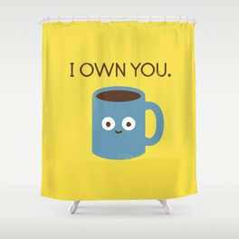 Coffee Talk Shower Curtain