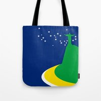 brazil Tote Bags featuring BRAZIL by Marcus Wild