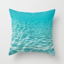 Maldive beach Throw Pillow