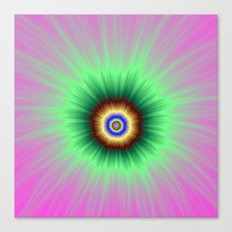 Explosion of Color in Pink and Green Canvas Print