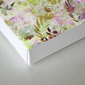 des fleurs et des mots Canvas Print