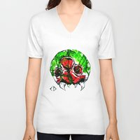 metroid V-neck T-shirts featuring Metroid by CJ Draden