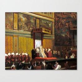 Jean-Auguste-Dominique Ingres Pope Pius VII in the Sistine Chapel Canvas Print