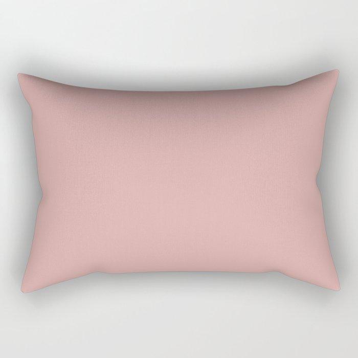 Rose Blush D9A6A1 Rectangular Pillow