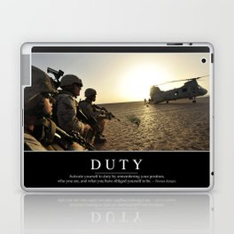 Duty: Inspirational Quote and Motivational Poster Laptop & iPad Skin
