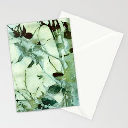 Green Abstraction Stationery Cards