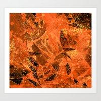 fiery space Art Print