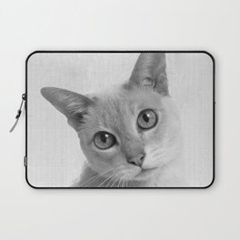 Cat Sad Face Portrait Laptop Sleeve
