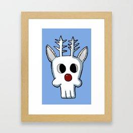 Rudolph Skull Framed Art Print