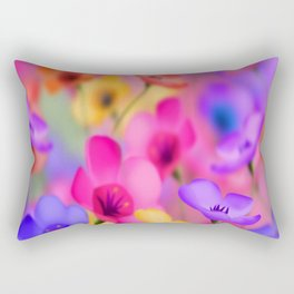 flowers, colorful Rectangular Pillow
