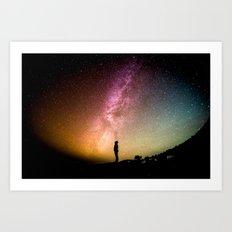 Stars teach me how to shine Art Print