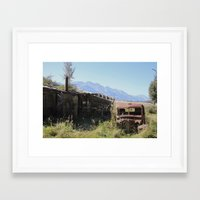 new zealand Framed Art Prints featuring New Zealand, Old Zealand by Andy Little