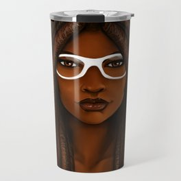 White Glasses Travel Mug