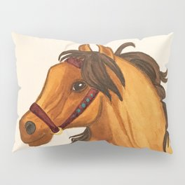 Watercolor Horse Unsaddled Pillow Sham