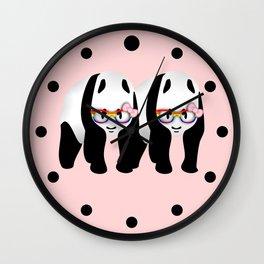 Lesbian  Gay Pride Pandas Wall Clock