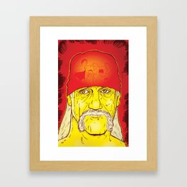 The Hulkster Reflects Framed Art Print