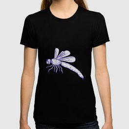 Dragonfly Flying Drawing Side T-shirt