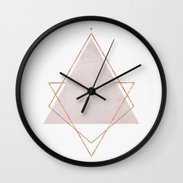 BLUSH COPPER ROSE GOLD GEOMETRIC SYNDROME Wall Clock