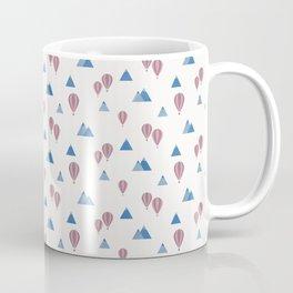 Air Balloon Mountains - White and Blue Coffee Mug