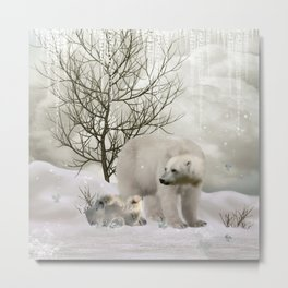 Awesome polar bear Metal Print