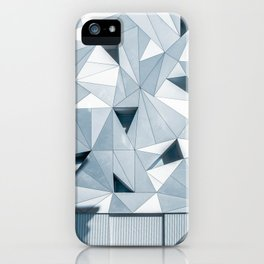 gray geometries iPhone Case