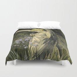 Fairy in Irises Duvet Cover