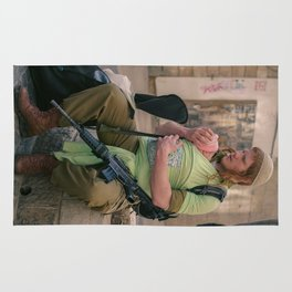 A Soldier & His Baby Rug
