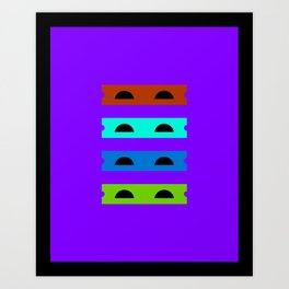 Teenage Minimal Ninja Turtles Art Print