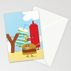 Vegetables vs. Fast food Stationery Cards