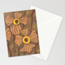 Yellow-eyed flowers Stationery Cards