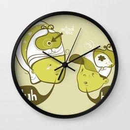Pea Brain Patty and Bird Brain Bimmy Wall Clock