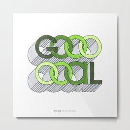 093/100 Goooooal Metal Print