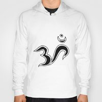 om Hoodies featuring Om by Dror Designs