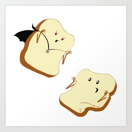 Vampire Toast Art Print