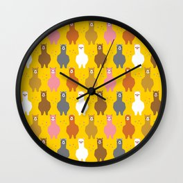 The Alpacas-Are-Not-Llamas Parade Wall Clock