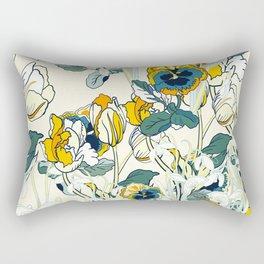 vintage floral pattern 3 Rectangular Pillow