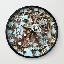 Love Triangle #3 Wall Clock