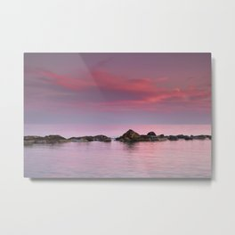 """""""Serenity"""" Pink sunset at the beach Metal Print"""