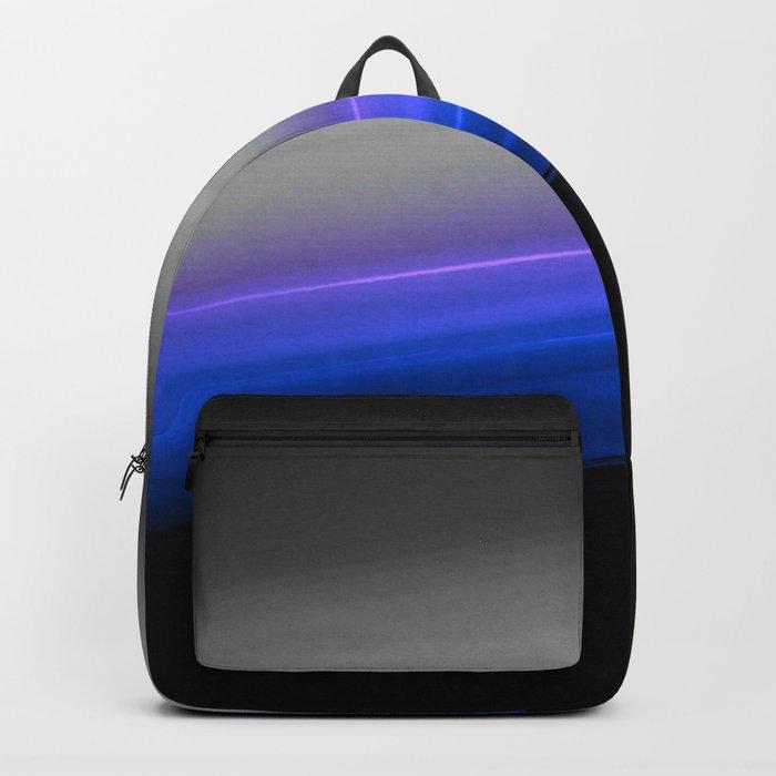 Blue Purple Grey Black Ombre Backpack